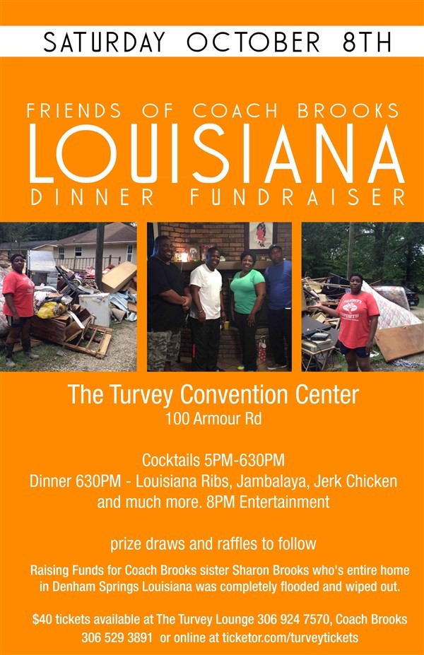 Get Information and buy tickets to Friends of Coach Brooks Louisiana Dinner Fundraiser  on Turvey Convention Center