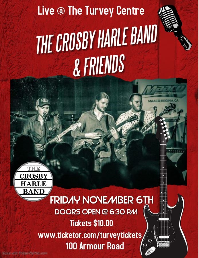 Get Information and buy tickets to THE CROSBY HARLE BAND  on Turvey Convention Center