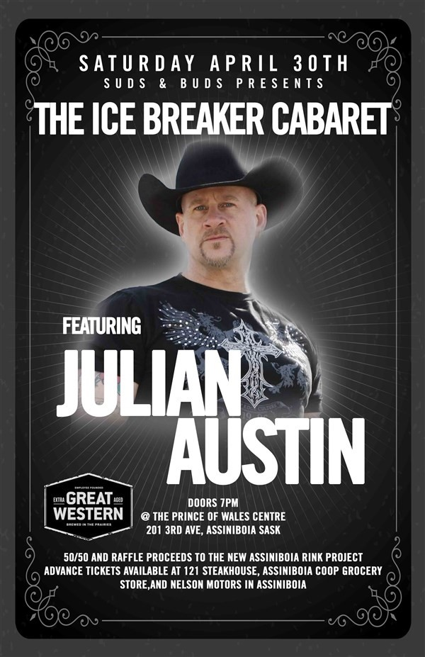 Get Information and buy tickets to Ice Breaker Cabaret Julian Austin on Turvey Convention Center