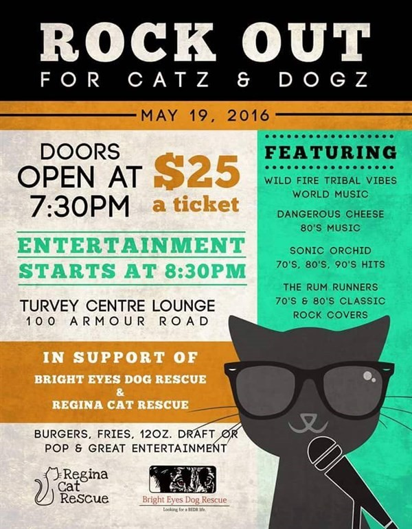 Get Information and buy tickets to Rock Out for Catz & Dogz  on Turvey Convention Center