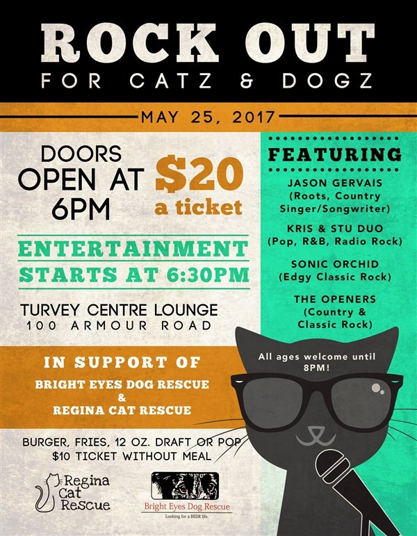 Get Information and buy tickets to Rock Out for Catz & Dogs BURGER & SHOW on Turvey Convention Center