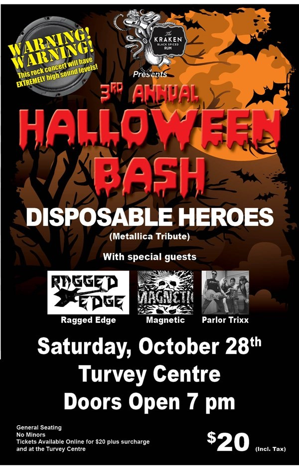 Get Information and buy tickets to 3rd Annual Halloween Bash  on Turvey Convention Center