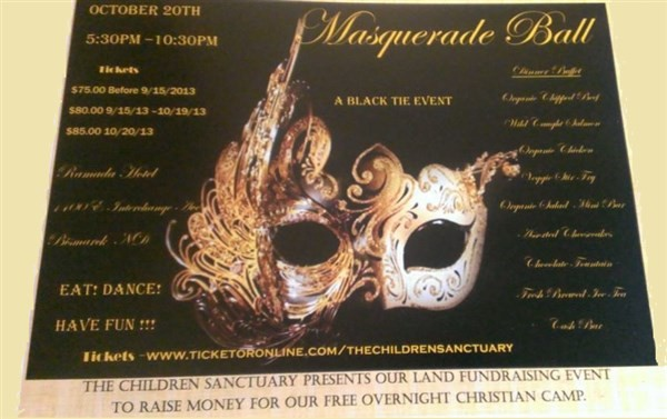 Get Information and buy tickets to MASQUERADE BALL  on The Children Sanctuary