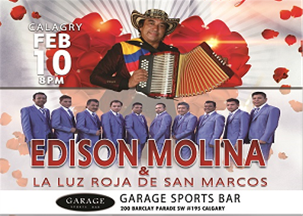 Get Information and buy tickets to EDINSON MOLINA Y LA LUZ ROJA DE SAN MARCOS  on www.jokerentertainment.ca