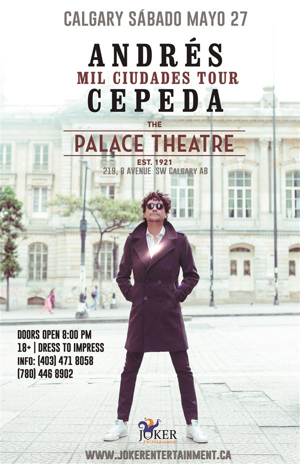 Get Information and buy tickets to ANDRES CEPEDA EN CONCIERTO MIL CIUDADES TOUR on www.jokerentertainment.ca