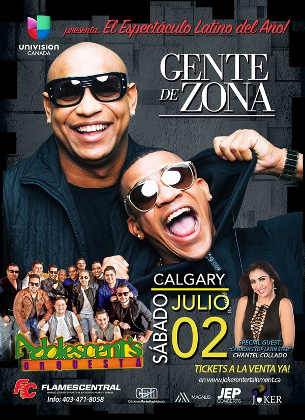 Get Information and buy tickets to GENTE DE ZONA Y ADOLECENTES ORQUESTA IN CALGARY GENTE DE ZONA Y ADOLECENTES ORQUESTA on www.jokerentertainment.ca