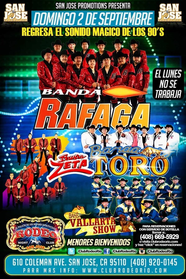 Banda Rafaga Banda Toro Banda Z Y Banda Vallarta Show