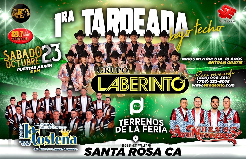 Grupo Laberinto y Banda La Costeña,Santa Rosa County Fairgrounds  on Oct 23, 17:00@Terrenos de La Feria de Santa Rosa - Buy tickets and Get information on elrodeorio.com sanjoseentertainment