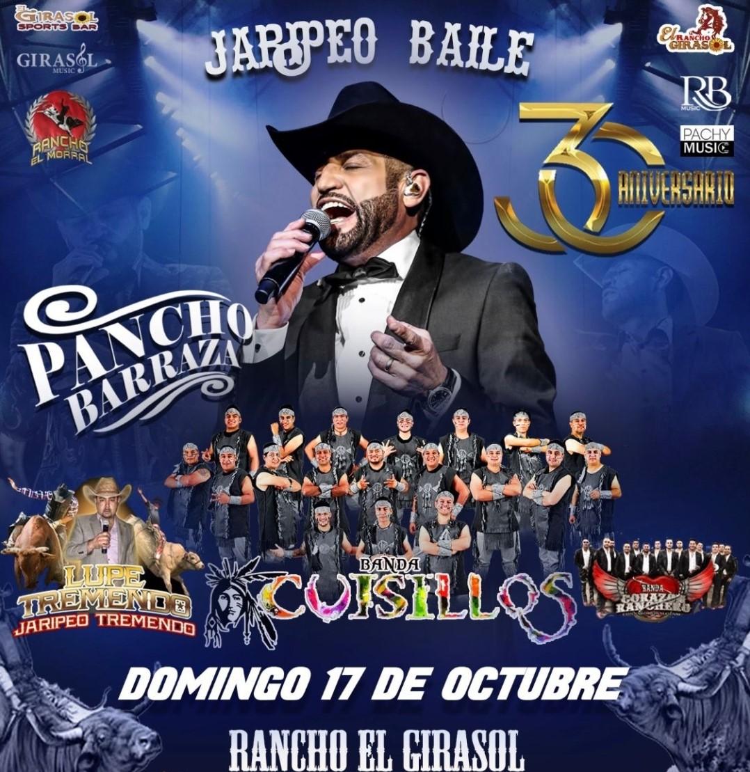 Pancho Barraza y Banda Cuisillos Jaripeo Baile on Oct 17, 14:00@Rancho El Girasol - Buy tickets and Get information on elrodeorio.com sanjoseentertainment