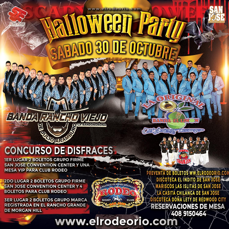 La Original Banda EL Limon y Banda Rancho Viejo  on Oct 30, 21:00@Club Rodeo - Buy tickets and Get information on elrodeorio.com sanjoseentertainment