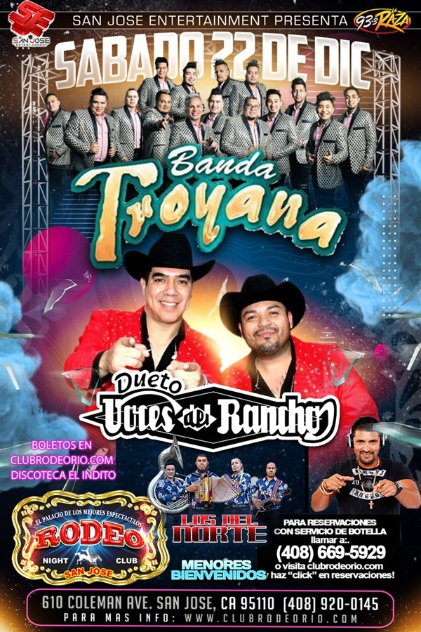 Get Information and buy tickets to Las Voces del Rancho,Banda Troyana y Los del Rancho  on clubrodeorio.com
