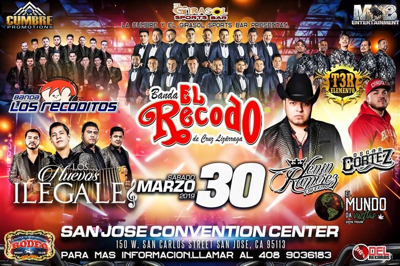 Get Information and buy tickets to Banda El Recodo,Los Recoditos,T3R Elemento Los Nuevos Ilegales,Lenin Ramirez y Oscar Cortez on Clubrodeorio.com