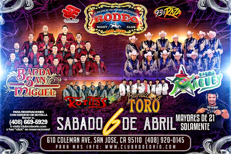Get Information and buy tickets to Bandafest 2019 Banda Maguey,Banda San Miguel,Banda Koritas Musical y mas! on clubrodeorio.com