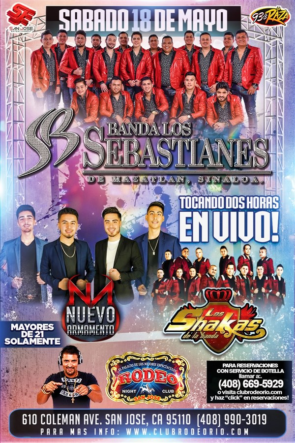 Get Information and buy tickets to Banda Los Sebastianes Sabado 18 de Mayo  on clubrodeorio.com