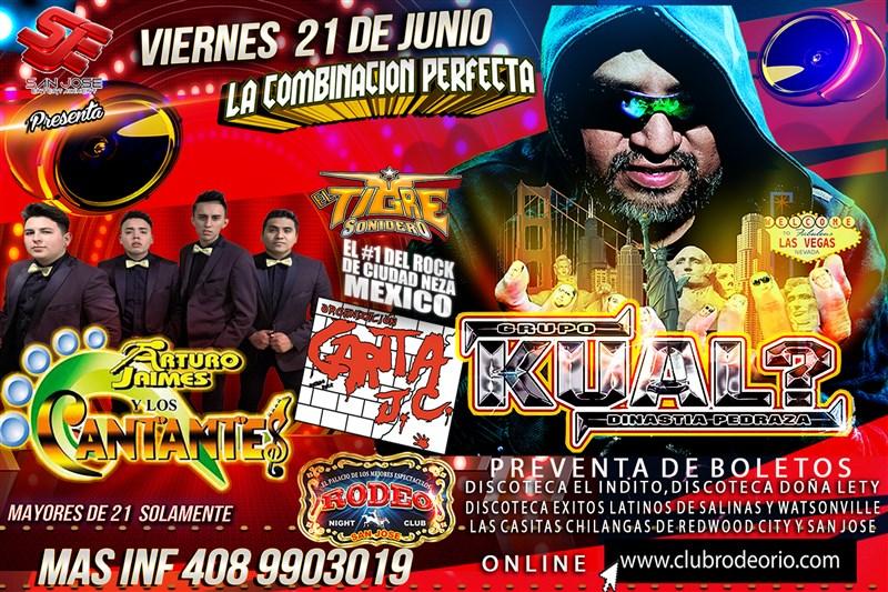 Get Information and buy tickets to Grupo Kual,Carita JC y Arturo Jaimes y Los Cantantes La Combinacion Perfecta 2019! on clubrodeorio.com