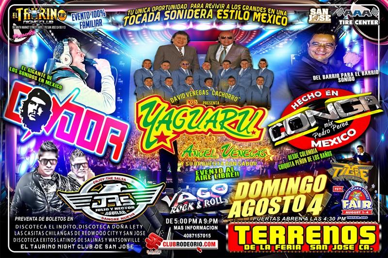 Get Information and buy tickets to El MegaCumbion 2019 en Los Terrenos de La Feria de San Jose Los Yaguaru,Sonido Condor,Sonidp La Conga y muchos mas! on clubrodeorio.com