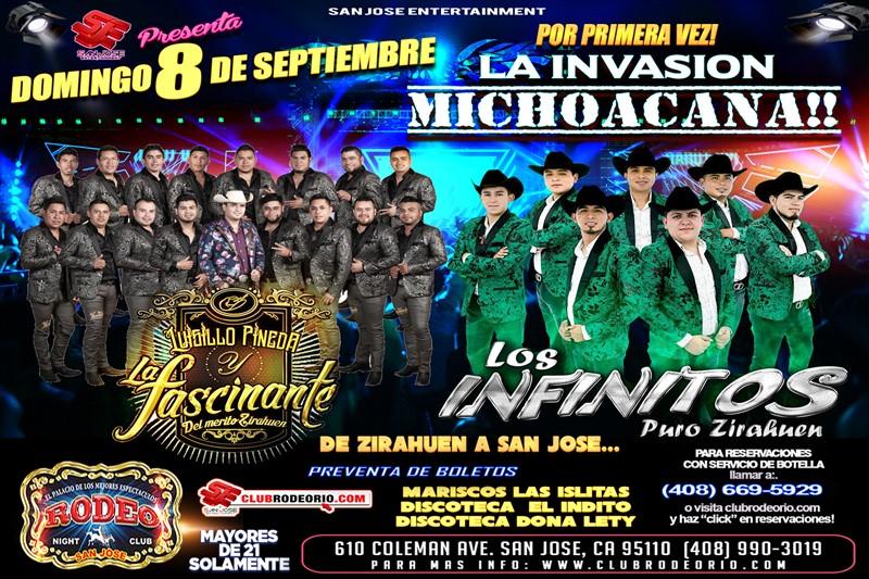 Obtener información y comprar entradas para Luisillo Pineda y La Fascinante,Los Infinito Puro Zirahuen La Invasion Michoacana en elrodeorio.com.