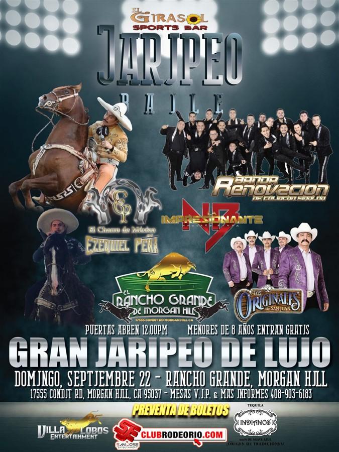 Get Information and buy tickets to Ezequiel Peña,Originales de San Juan y Banda Renovacion Rancho Grande de Morgan Hill on clubrodeorio.com