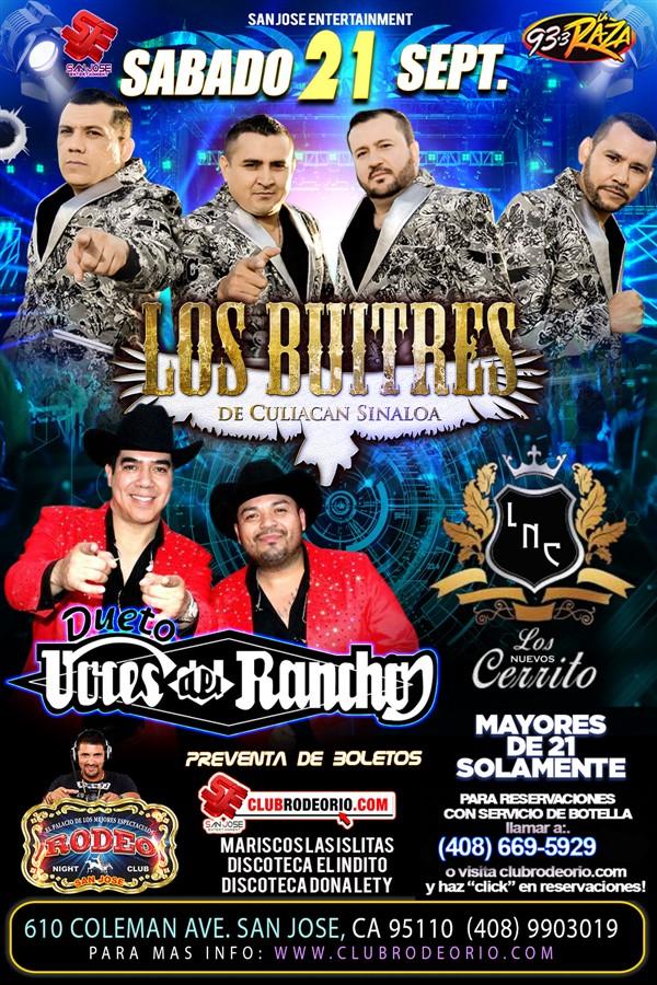 Obtener información y comprar entradas para Los Buitres de Culiacan y Las Voces del Rancho  en elrodeorio.com.