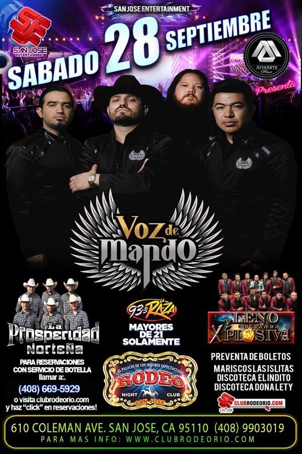 Obtener información y comprar entradas para VOZ DE MANDO  en elrodeorio.com.