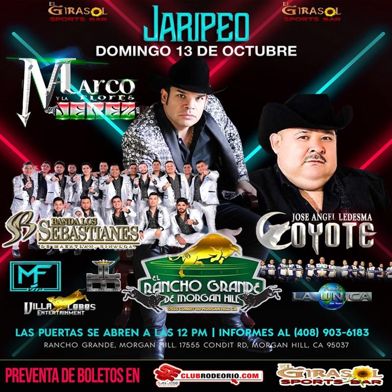 Get Information and buy tickets to Marcos Flores y La Jerez,El Coyote y Banda Los Sebastianes  on clubrodeorio.com