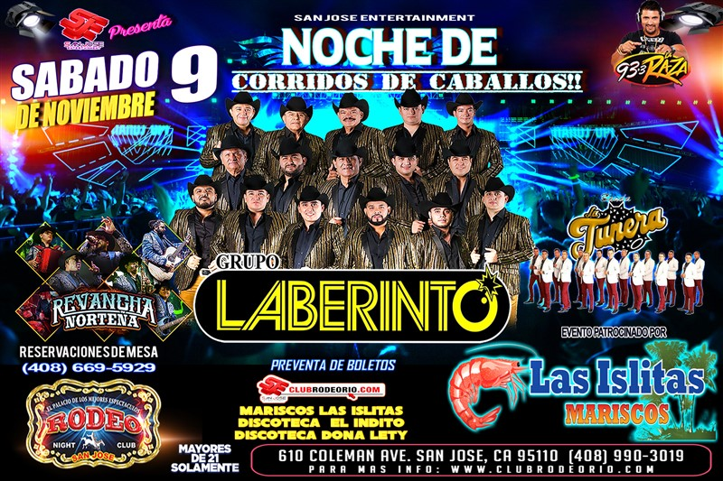 Get Information and buy tickets to Grupo Laberinto  on clubrodeorio.com
