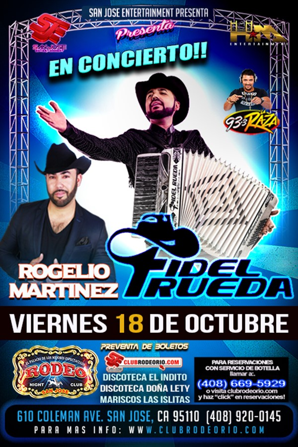 Get Information and buy tickets to Fidel Rueda y Rogelio Martinez  on clubrodeorio.com
