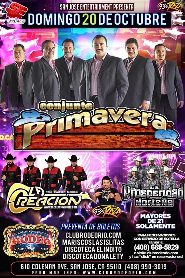 Get Information and buy tickets to Conjunto Primavera  on clubrodeorio.com