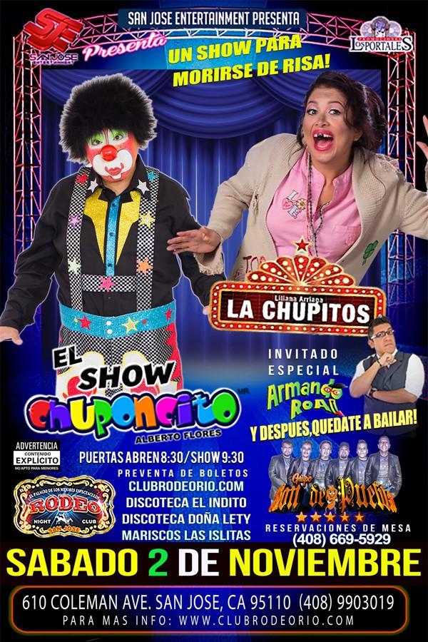 Get Information and buy tickets to Chuponcito y La Chupitos Armando Roal y Grupo Son de Puebla on clubrodeorio.com