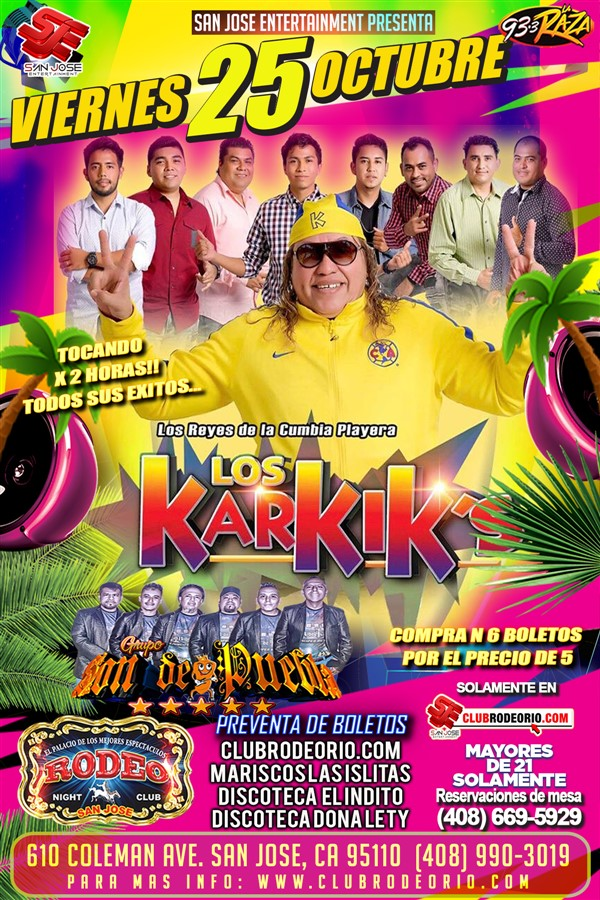 Get Information and buy tickets to Los Karkiks  on clubrodeorio.com