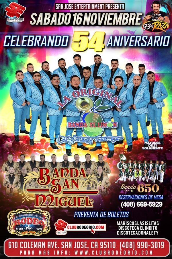 Get Information and buy tickets to La Original Banda El Limon,Banda San Miguel y Banda 650 Una Noche Original! on clubrodeorio.com