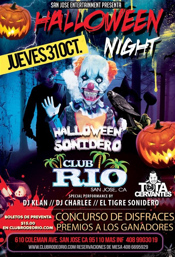 Get Information and buy tickets to Noche de Halloween Jueves 31 de Octubre,Club Rio de San Jose  on clubrodeorio.com