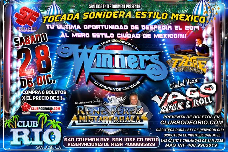 """Get Information and buy tickets to El Ultimo Sonidero del 2019 Antonio """"Winners"""",Sonido Amistad Caracas y Sonido Vago on clubrodeorio.com"""
