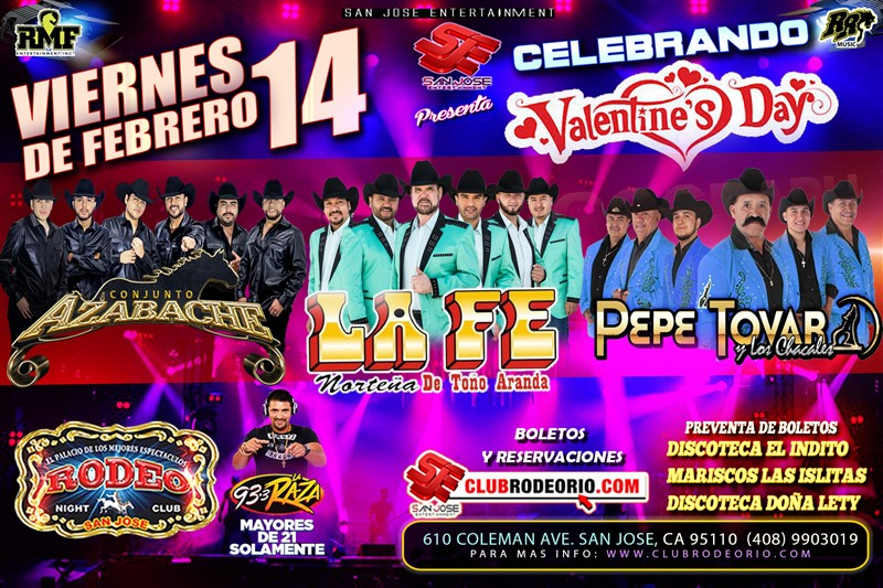 Get Information and buy tickets to La Fe Norteña de Toño Aranda,Conjunto Azabache y Pepe Tovar  on clubrodeorio.com