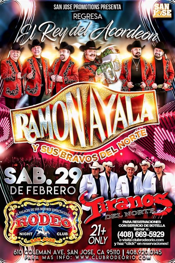 Get Information and buy tickets to Ramon Ayala y Los Tiranos del Norte,Sabado 29 de Febrero  on clubrodeorio.com