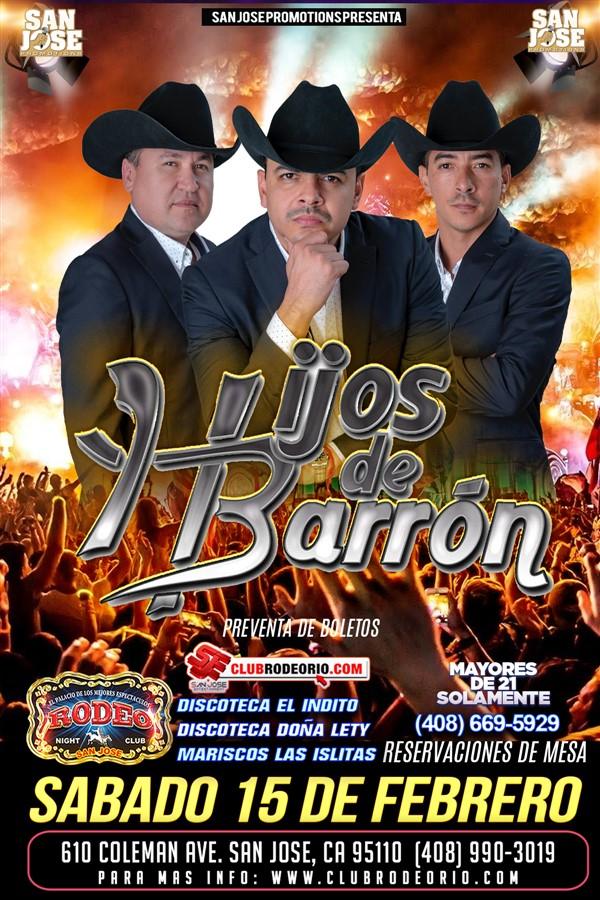 Get Information and buy tickets to Los Hijos de Barron  on clubrodeorio.com