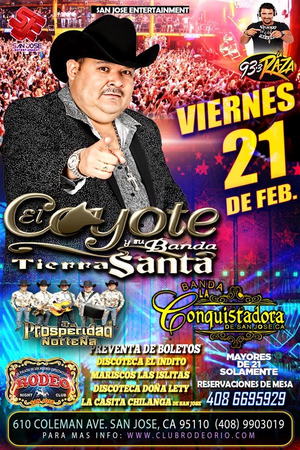 Get Information and buy tickets to El Coyote y su Banda,Viernes 21 de Febrero,Club Rodeo  on clubrodeorio.com