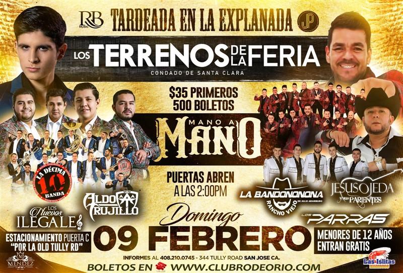 Get Information and buy tickets to Aldo Trujillo,Los Nuevos Ilegales,La Decima Banda La Bandononona Rancho Viejo,Los Parras y Jesus Ojeda on clubrodeorio.com