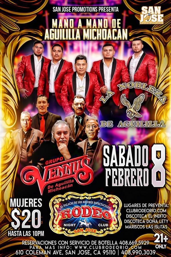 Get Information and buy tickets to Grupo Vennus y La Nobleza de Aguililla,Sabado 8 de Febrero  on clubrodeorio.com