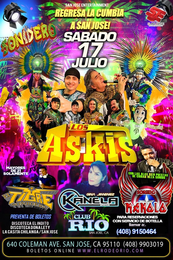 Obtener información y comprar entradas para Los Askis Sonido Manolo,Sonido Kanela y El Tigre Sonidero en elrodeorio.com.