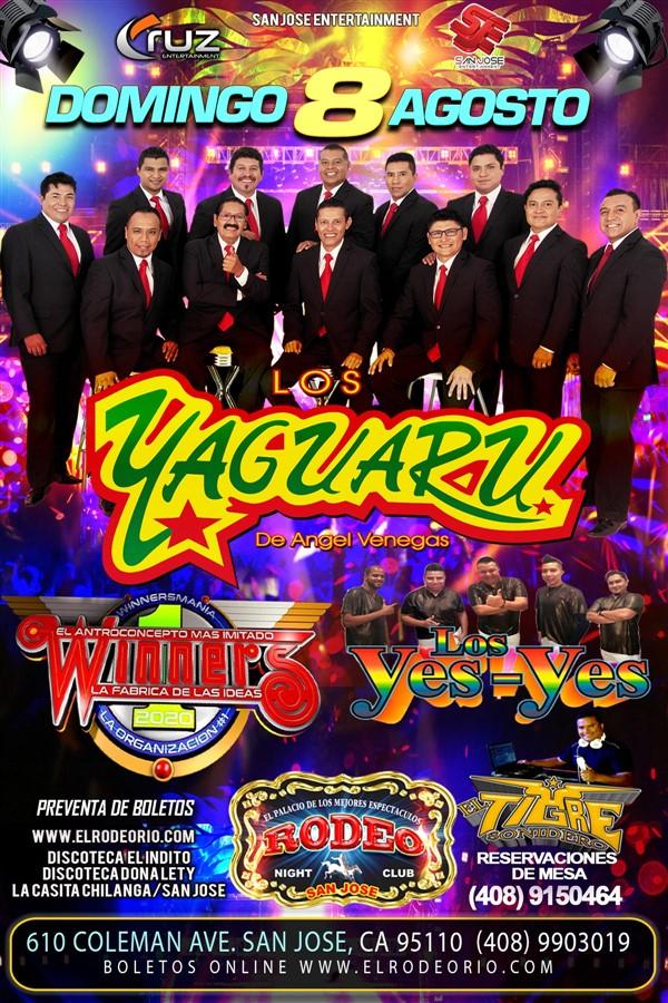 Obtener información y comprar entradas para Grupo Yaguaru,Los Yes Yes y Winners  en elrodeorio.com.