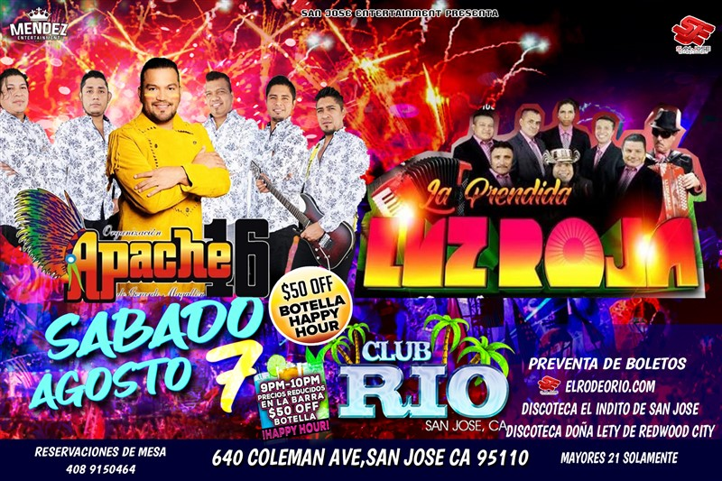 Obtener información y comprar entradas para Apache 16 y La Luz Roja  en elrodeorio.com.