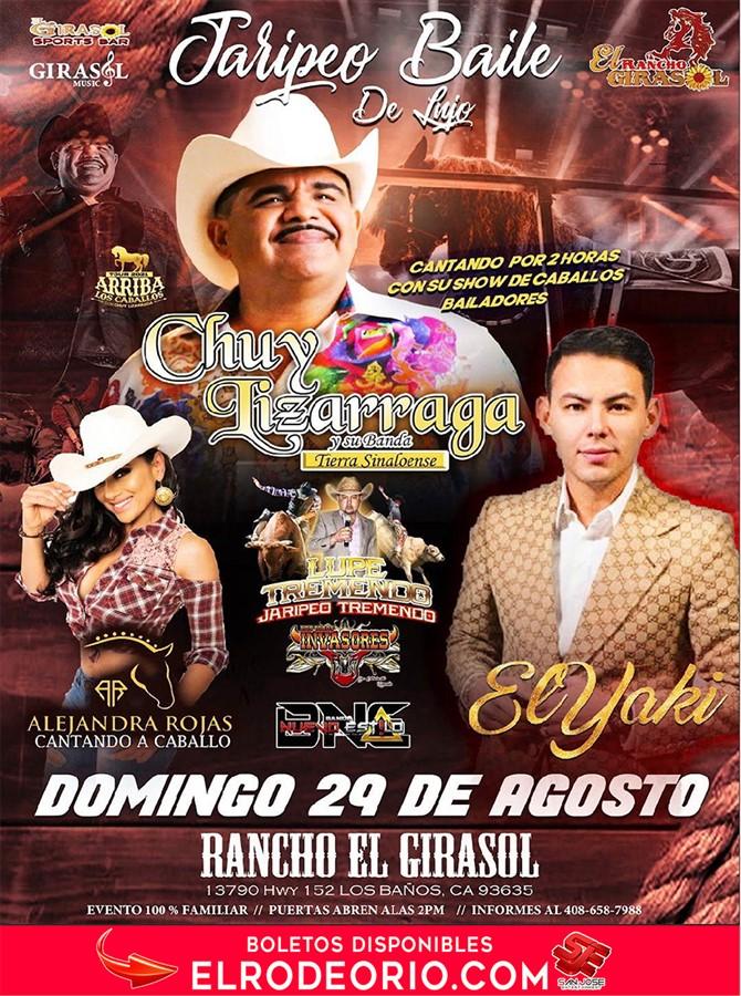 Obtener información y comprar entradas para Chuy Lizarraga,El Yaky ,Lupe Tremendo y Alejandra Rojas  en elrodeorio.com.