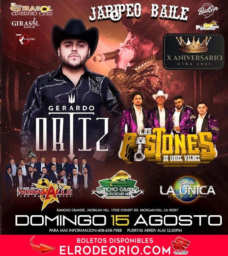 Obtener información y comprar entradas para Gerardo Ortiz,Los pistones de Uriel Valdez,  en elrodeorio.com.