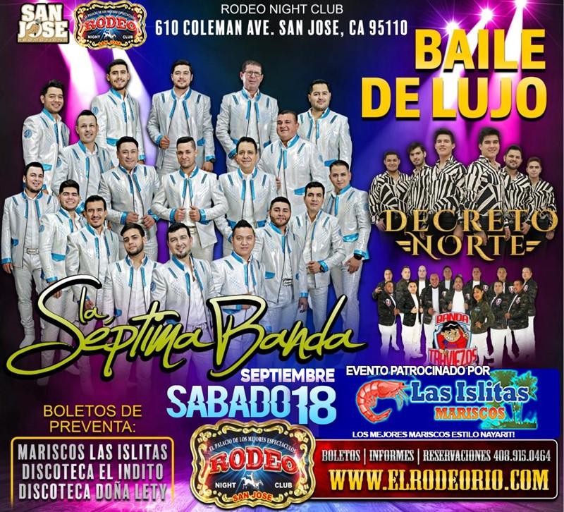 Obtener información y comprar entradas para La Septima Banda Sabado 18 de Septiembre  en elrodeorio.com.
