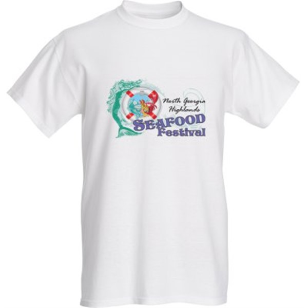 Get Information and buy tickets to T-SHIRT for North Georgia Highlands Seafood Festival note: t-shirt is beige on North Georgia Highlands Seafood Festival