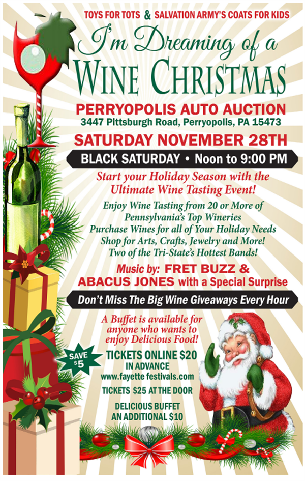 Get Information and buy tickets to Dreaming of a Wine Christmas!  on Fayette Festivals