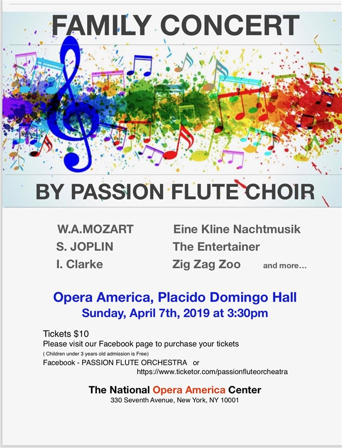 Get Information and buy tickets to FAMILY CONCERT by Passion Flute Choir on Passion flute orchestra