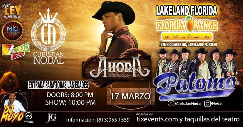 Get Information and buy tickets to Christian Nodal Ahora Tour 2019 on tixevents.com