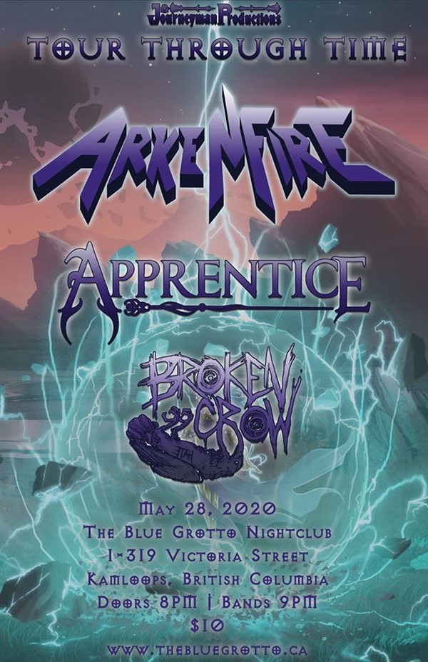 Get Information and buy tickets to ARKENFIRE, APPRENTICE, BROKEN CROW  on The Blue Grotto